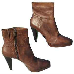 """Couture Leather Boot Shoe New 3/4"""" Platform Peace"""